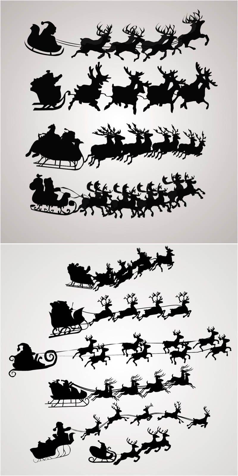 Santa Claus On A Sleigh Vector Free Download Cricut Trials