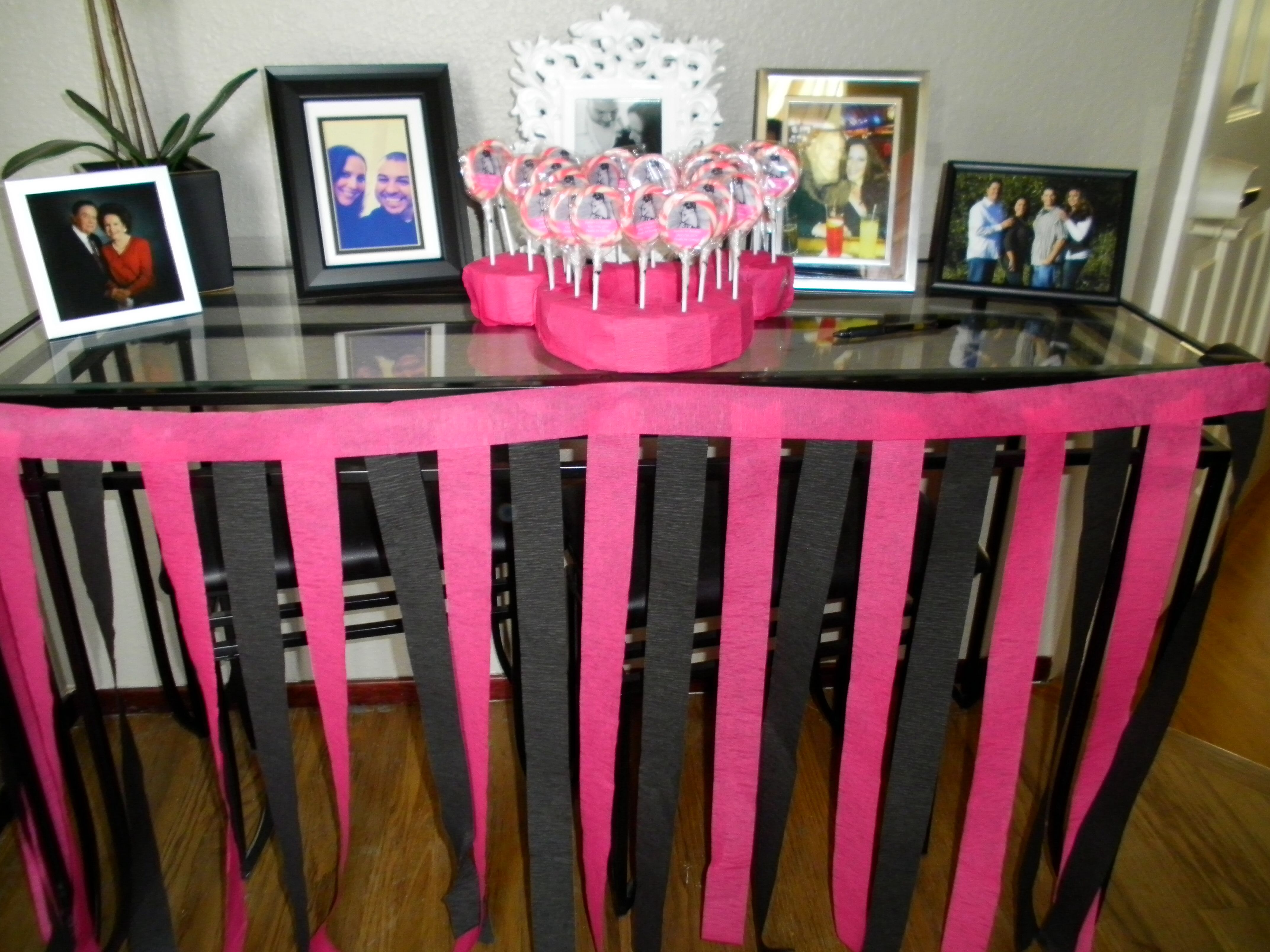 Pink And Black Minnie Mouse Decorations Party Favor Display Table Decorations Minnie Mouse Hot Pink Black