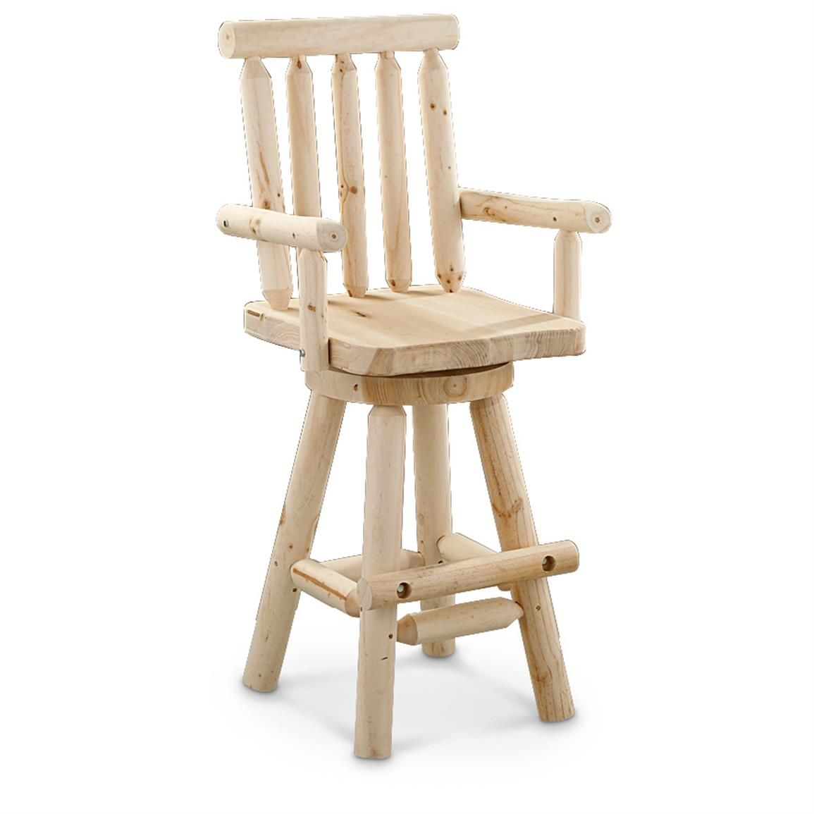 Castlecreek log bar stool add a rustic look to your bar or kitchen with a strong sturdy solid wood chair