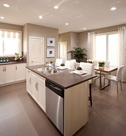 Tall Windows Standard Door Height With 9 Ceilings Spacious Kitchens Home Kitchen