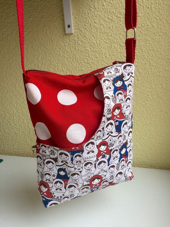 Sac à bandoulière de sac tissu imprimé de matrioshkas | sac ...