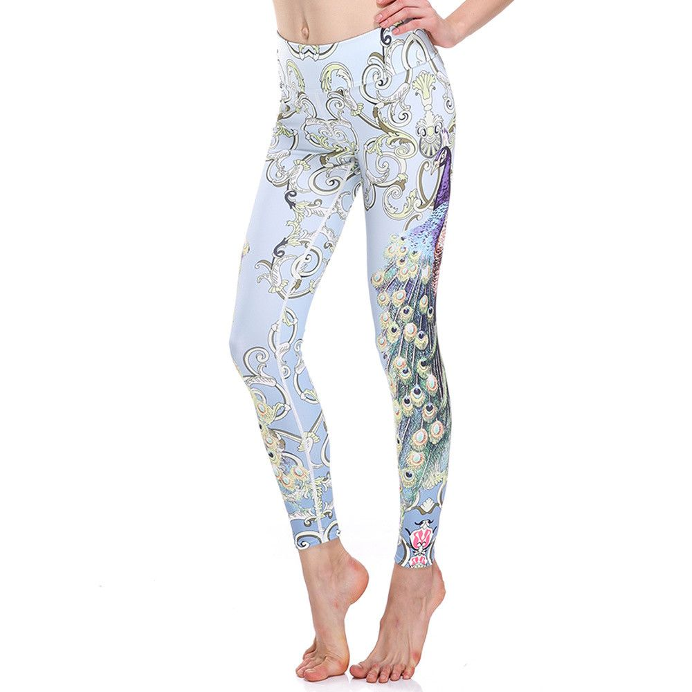 3D print butterfly parrot dragonfly bird Harajuku adventure time workout push up spandex plus size fitness leggings women pants