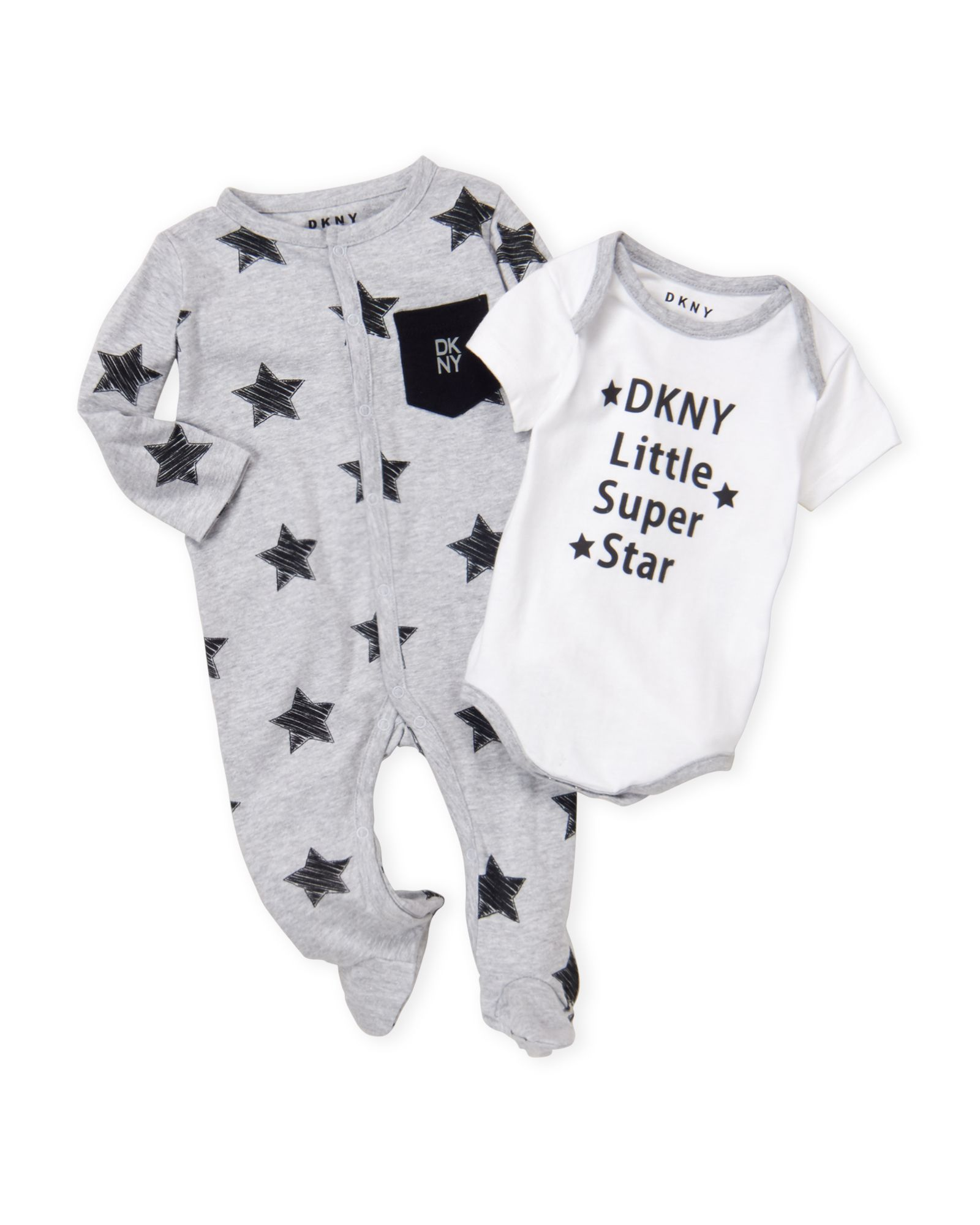 Newborn TwoPiece Super Star Coveralls u Bodysuit Set in