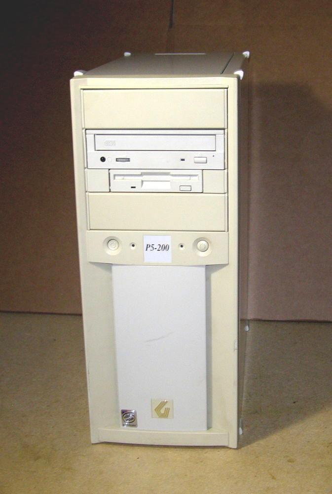gateway 2000 p1 200mhz windows 98se/dos gaming isa desktop computer