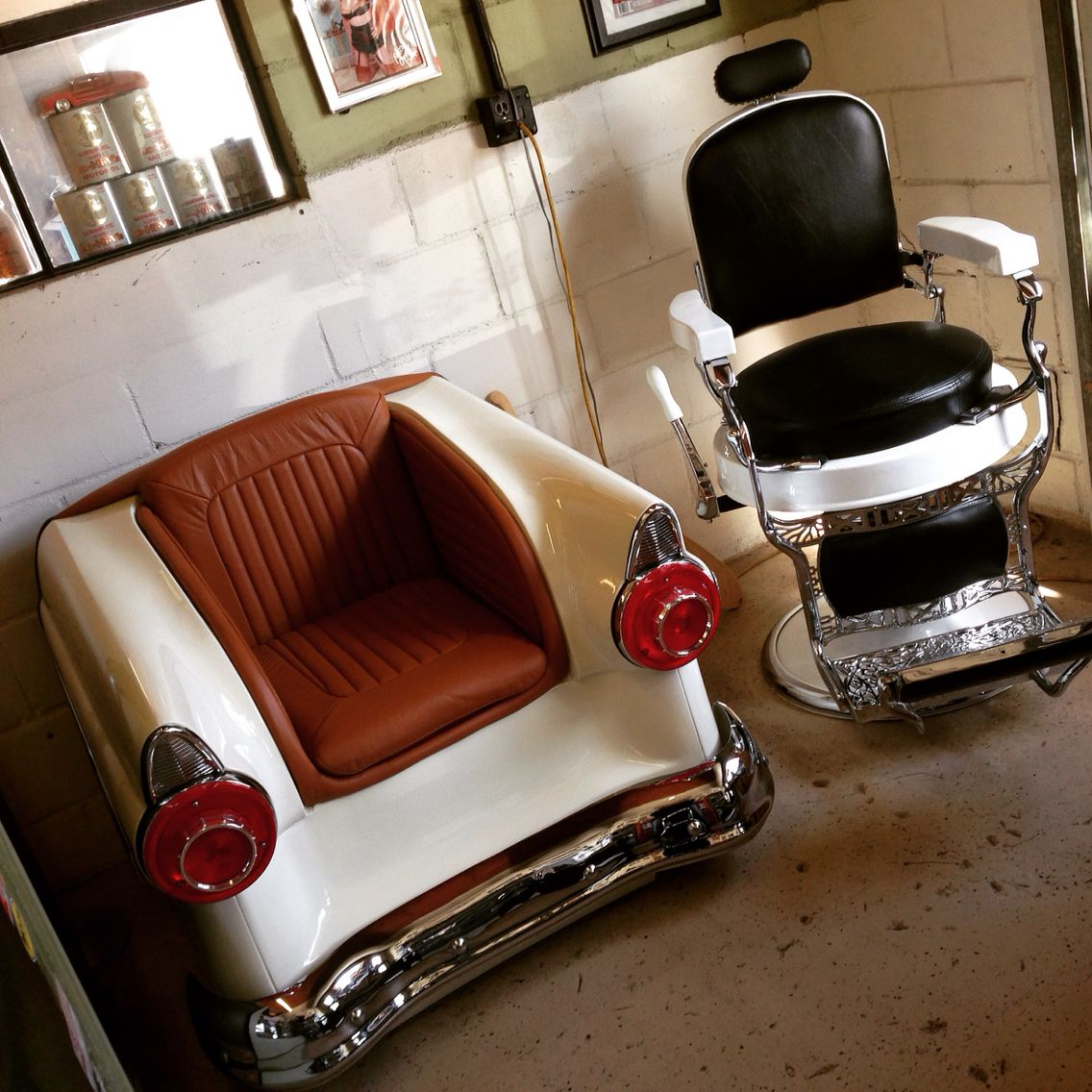 Mobile Barber Chair Adams Stackable Plastic Adirondack Chairs 1920 39s Roundseat Squareback Koken Restored By