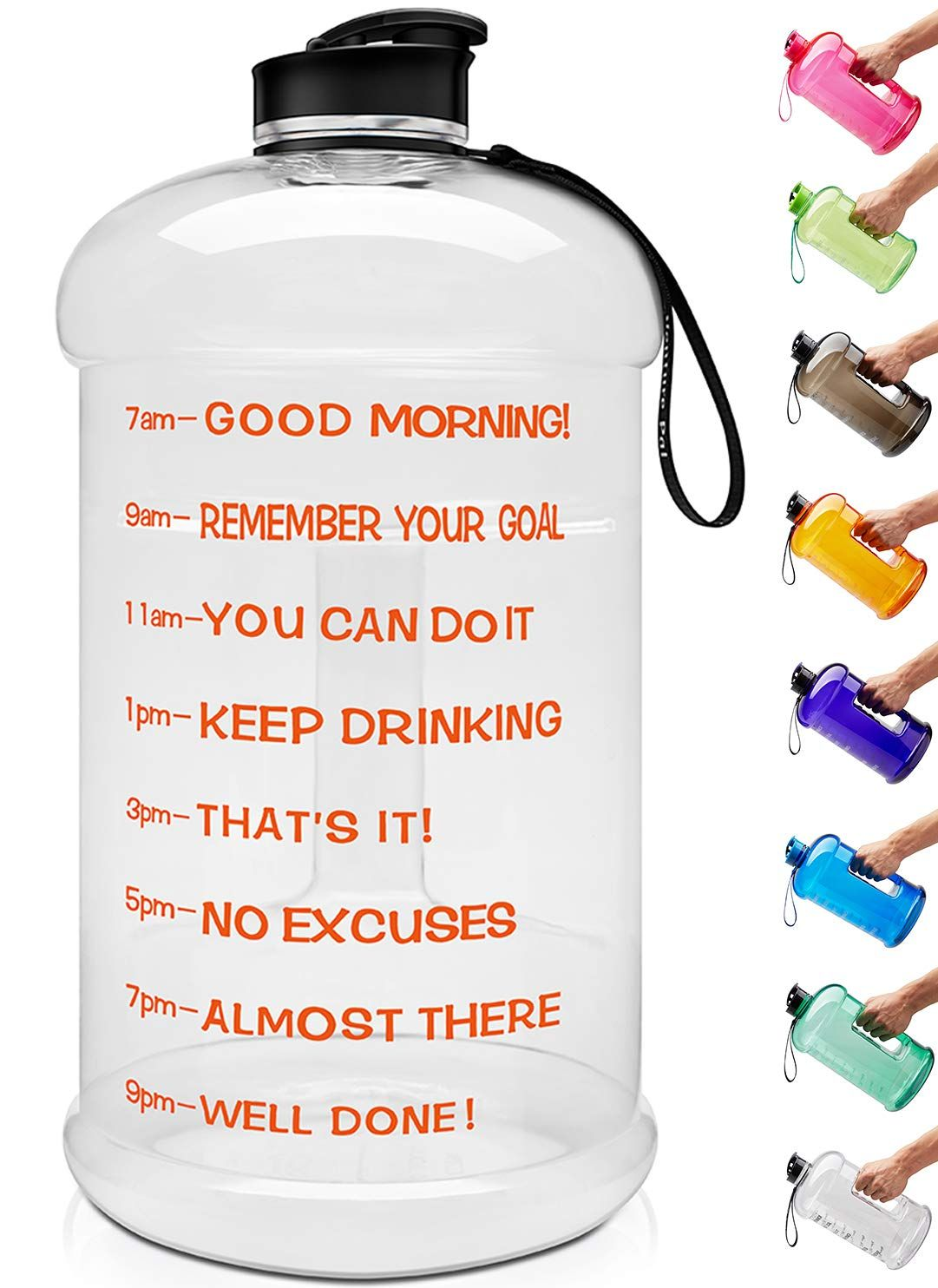 Venture Pal Large 128oz Leakproof BPA Fitness Sports Water Bottle Motivational