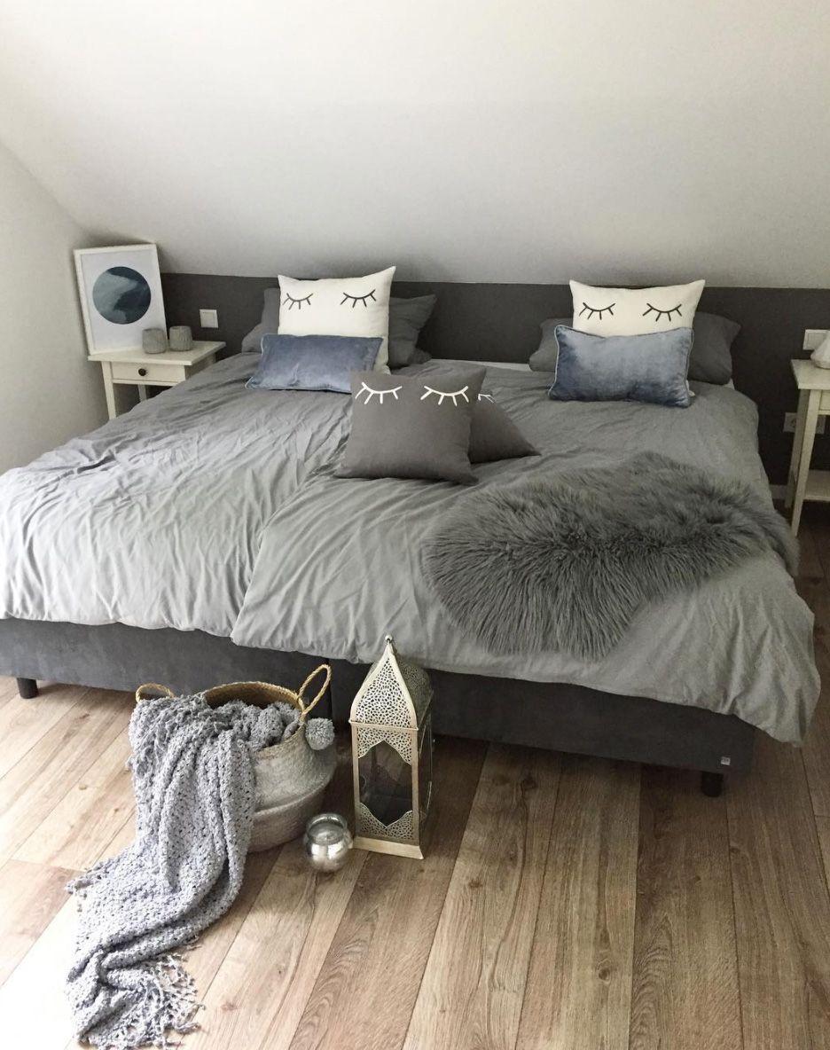 Schlafzimmer Graues Bett   Schlafzimmerideen   Wohnkonfetti
