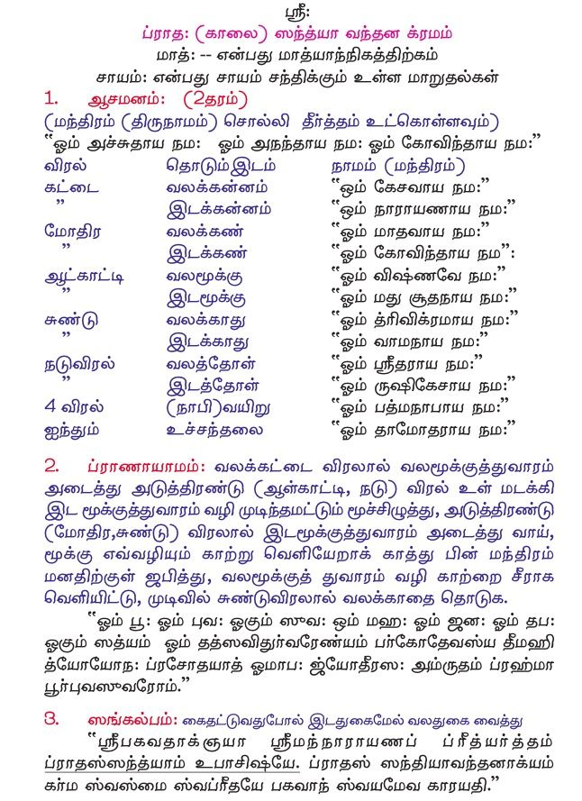 Yajurveda Sandhyavandanam In Telugu Pdf