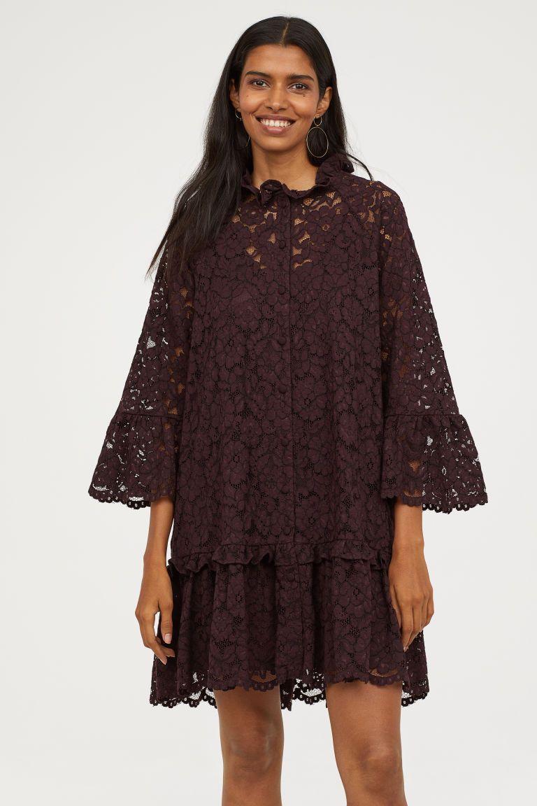H&m blue lace dress  Rochie largă de dantelă  Outfits to remember  Pinterest  Lace