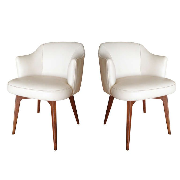 Pair of modern chairs by cain modern modern chairs for Contemporary seating