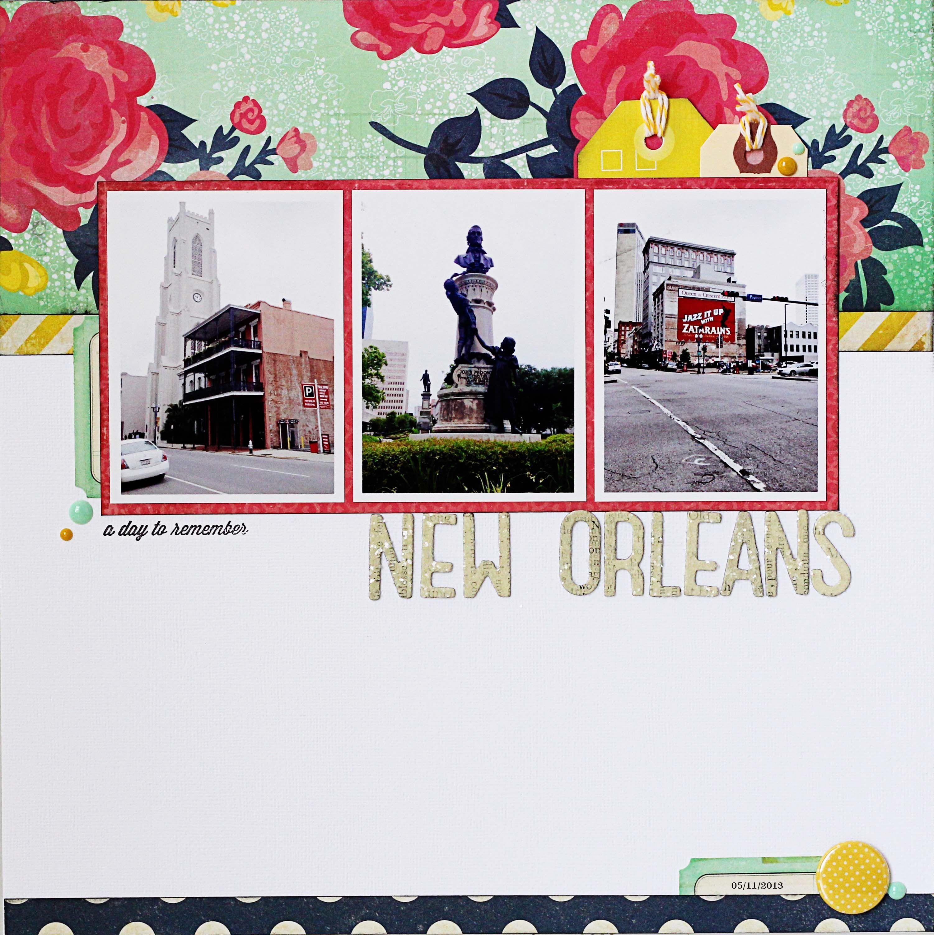 Scrapbook ideas new orleans -  Papercraft Scrapbook Layout New Orleans Scrapbook Com