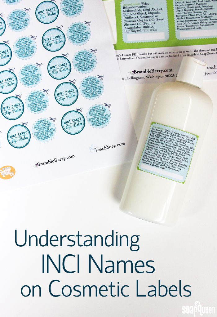 28748cbe6d Understanding INCI Names on Cosmetic Labels. This post goes explains what  the names are and how to incorporate them on your product labels!
