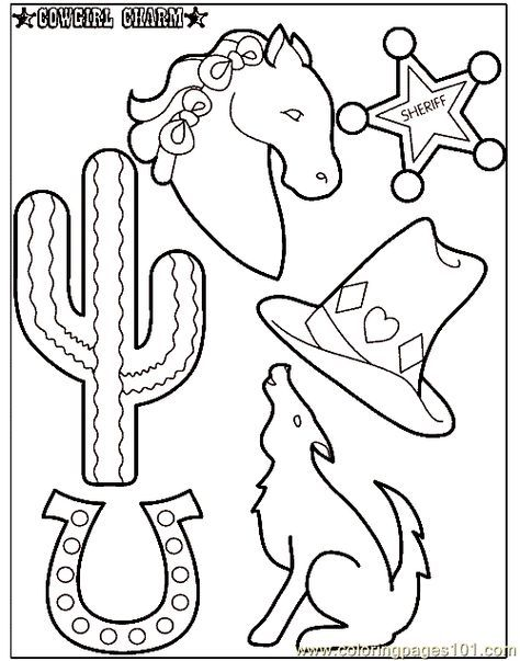 Cowboy Texas Theme Coloring Pages Free Printable Coloring Page