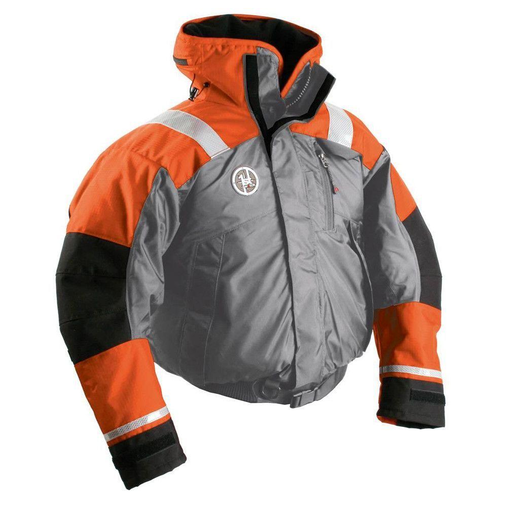 First watch ab1100 flotation bomber jacket orangegrey