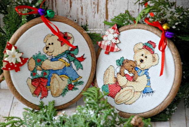 Made with love...: Teddy Treasures Ornaments