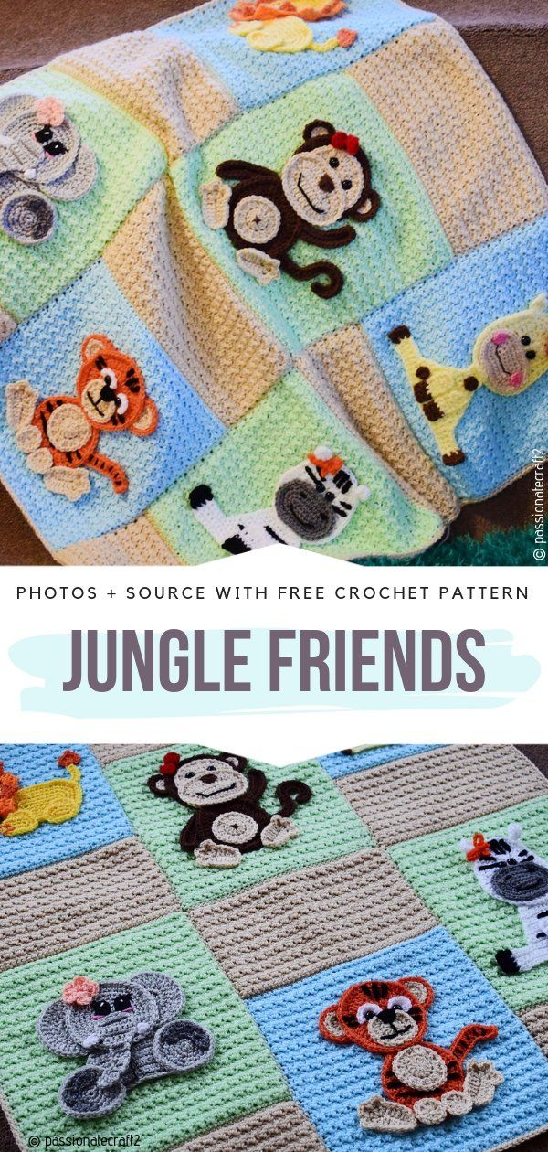 Fun Animal Baby Blankets Free Crochet Patterns