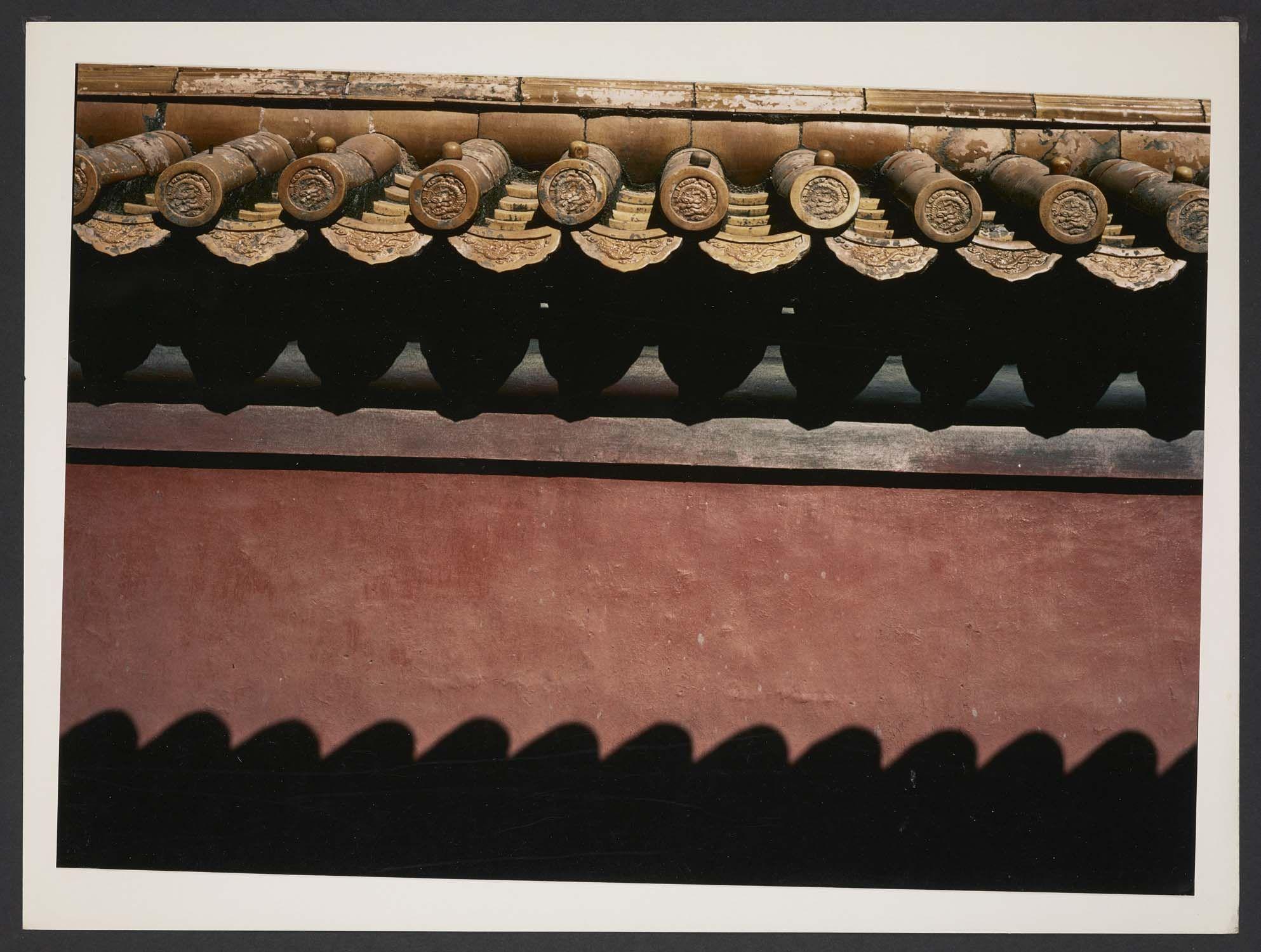 Michel Delaborde, Chine, (toit et mur) 1981-1982. © Ministère de la culture (France), Médiathèque de l'architecture et du patrimoine, Diffusion RMN-GP