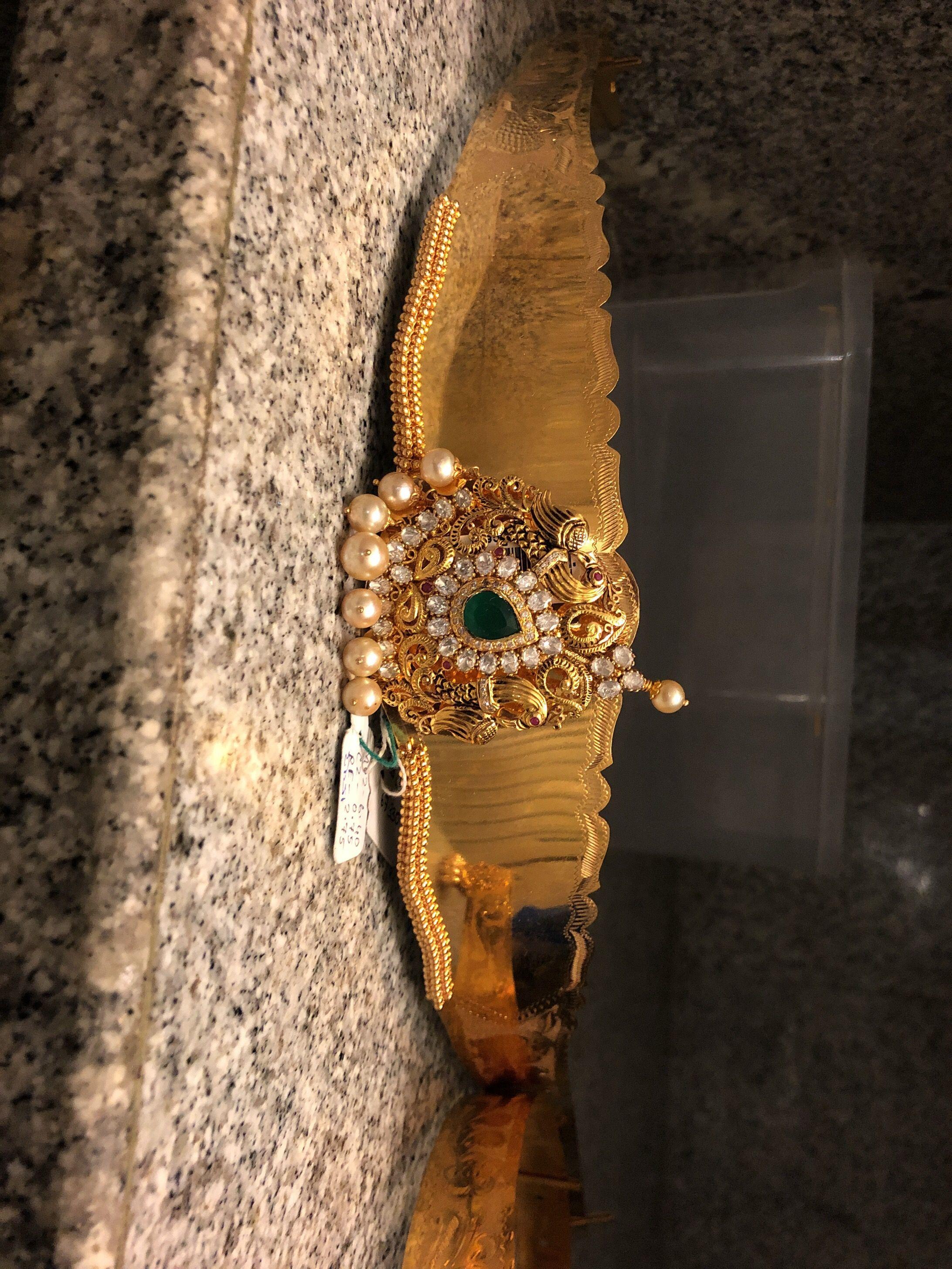 113294502c98f vaddanam | Jewel in 2019 | Light weight gold jewellery, Gold ...