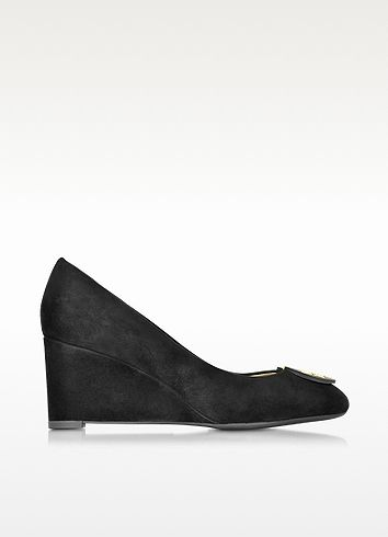 f2aeed9de3096 TORY BURCH Luna Black Suede Wedge.  toryburch  shoes  wedges Shoes Heels  Boots