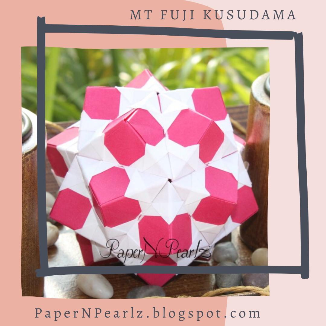 The #origami Mt. Fuji #kusudama - a visually captivating #modularorigami!   #mtfuji #paperfolding #origamilove #papernpearlz #origamiart #origamiindia #japanese