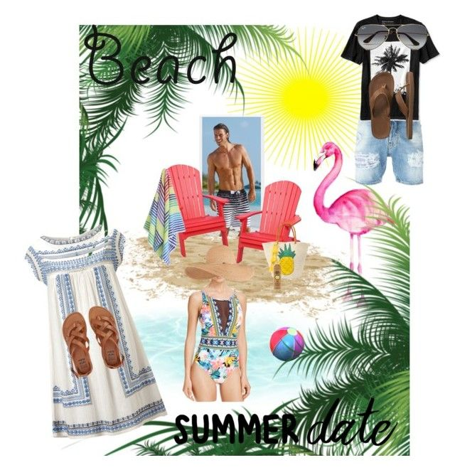 """""""Fun day at the beach and a relaxing evening walking the on the boardwalk"""" by nicole-leaann on Polyvore featuring DutchCrafters, Star Mela, Dsquared2, Sensi Studio, Las Bayadas, Billabong, La Blanca, Eugenia Kim, Banana Republic and Gap"""