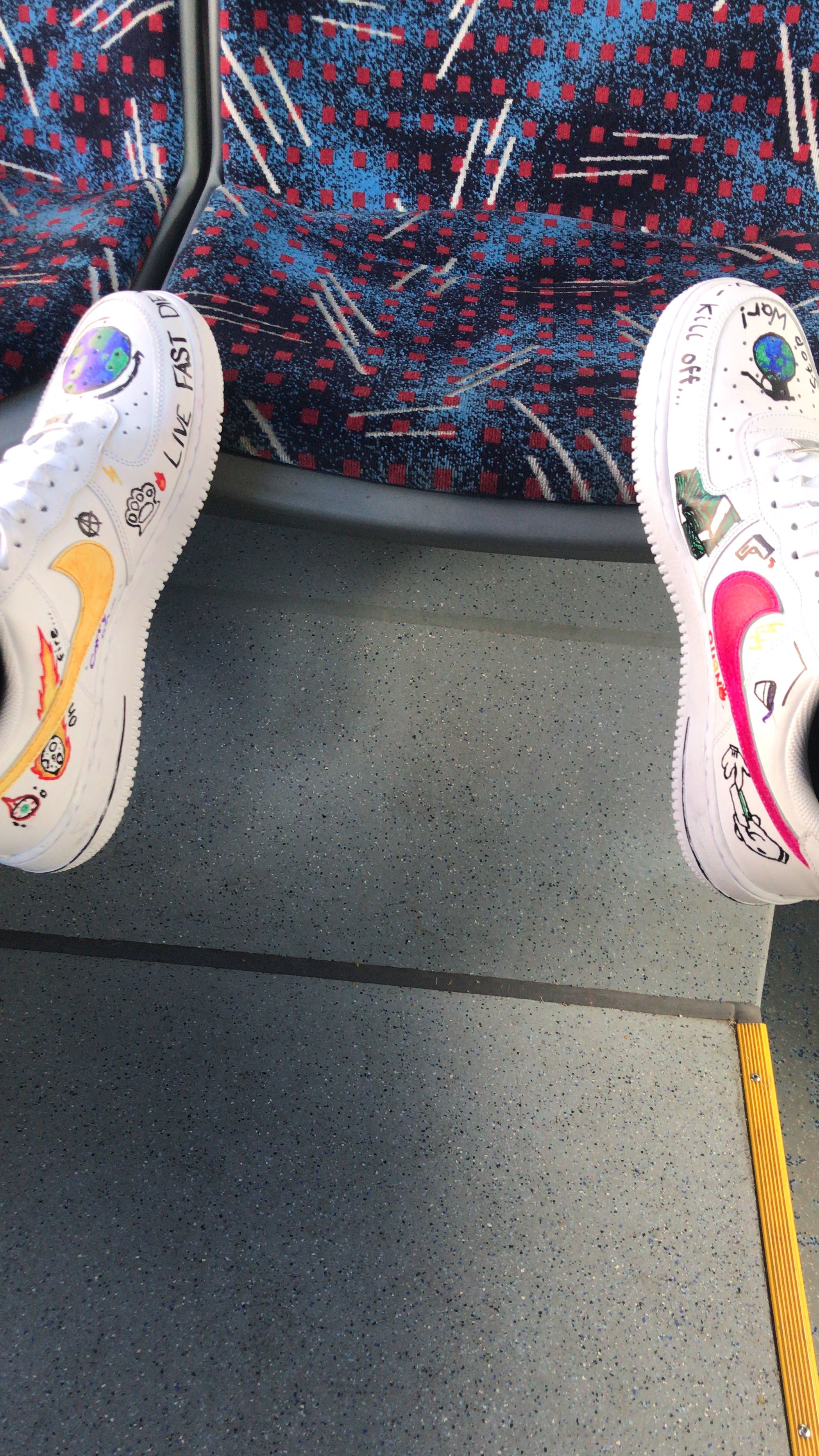 Nike AF1's with street inspired Off