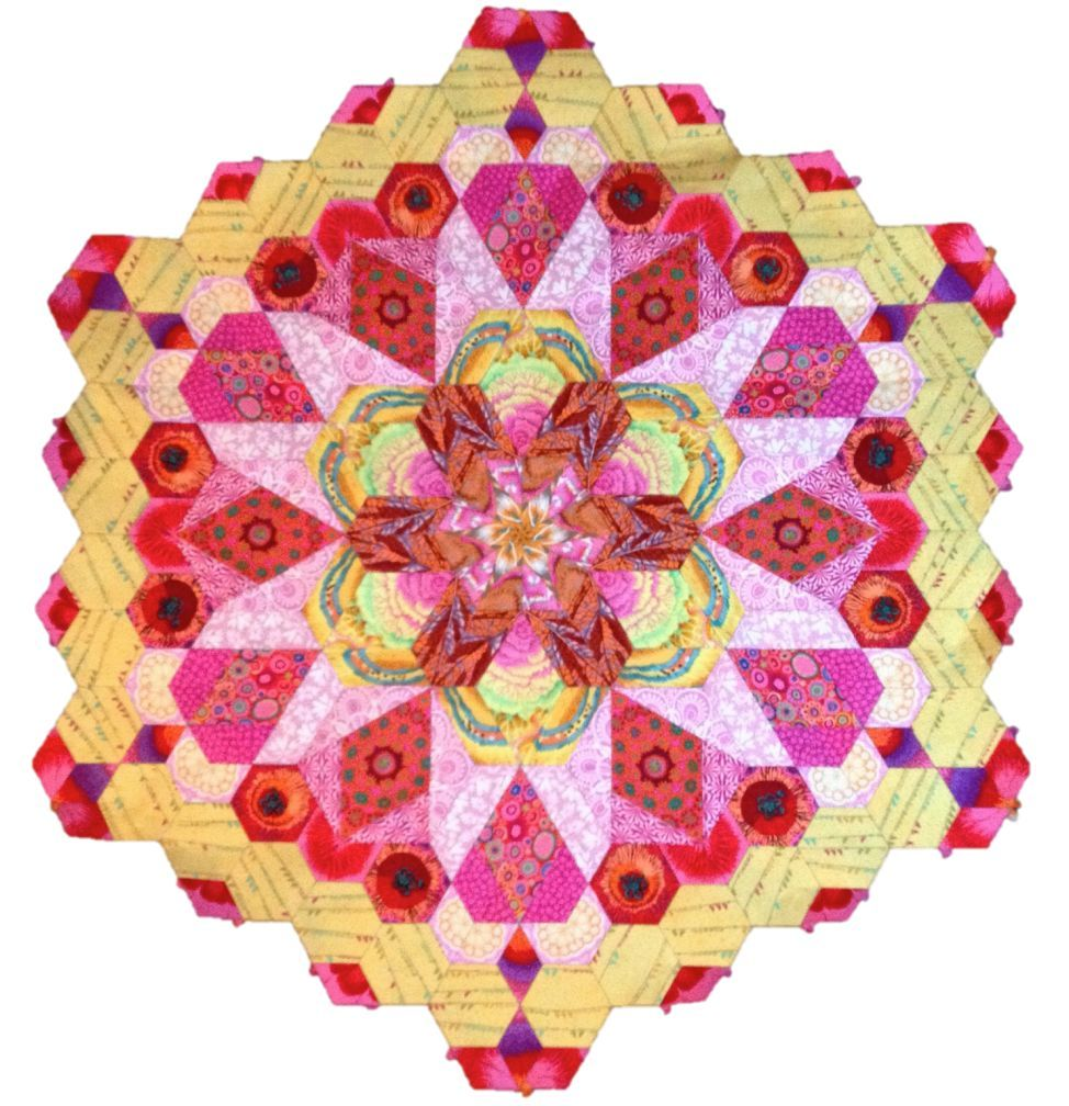 The New Hexagon Millefiore Quilt-Along: Rosette #1 | Selbstgemachtes ...