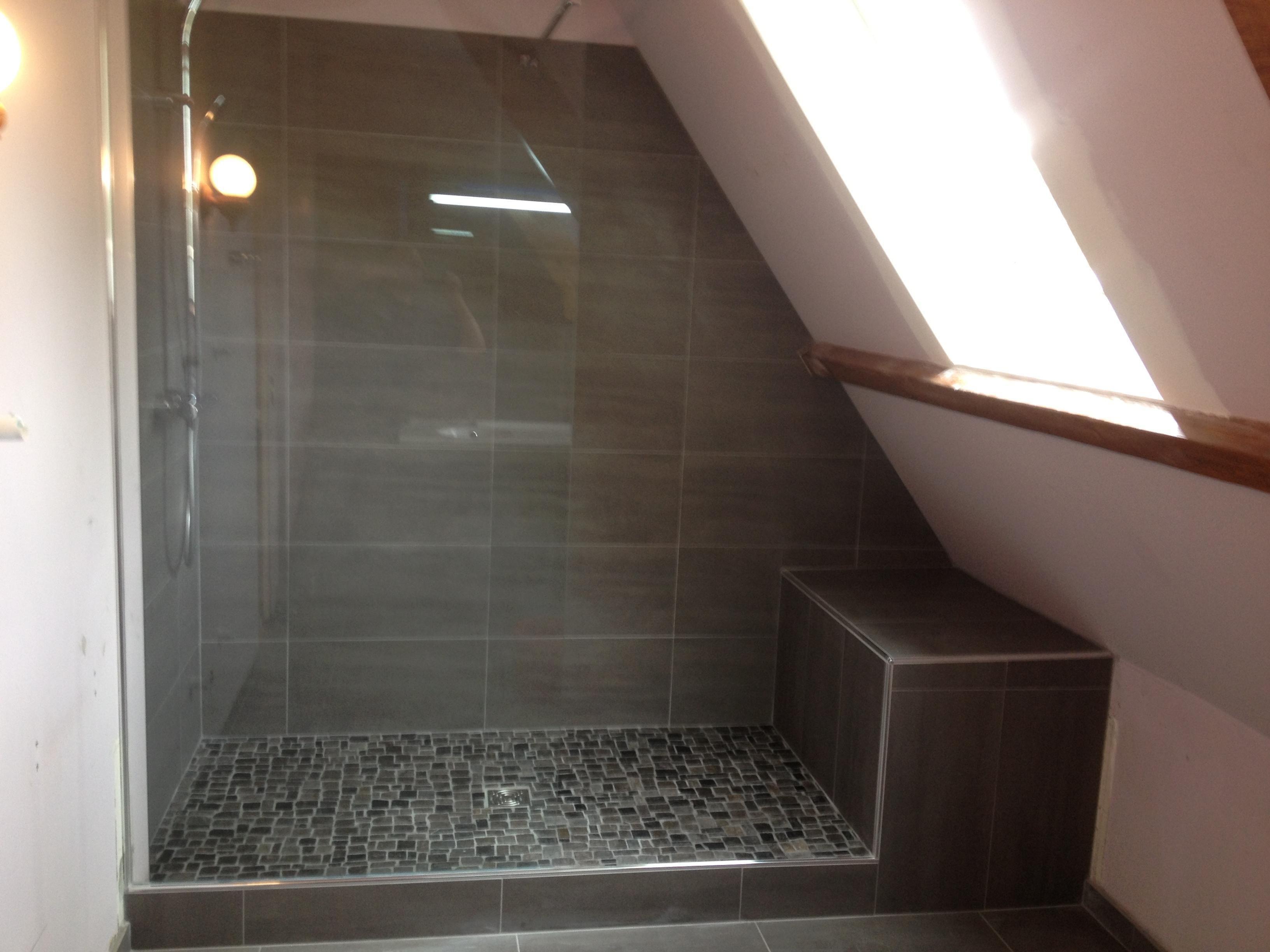 douche l 39 italienne surelev e douche italienne sous pente douche italienne et plan salle de bain