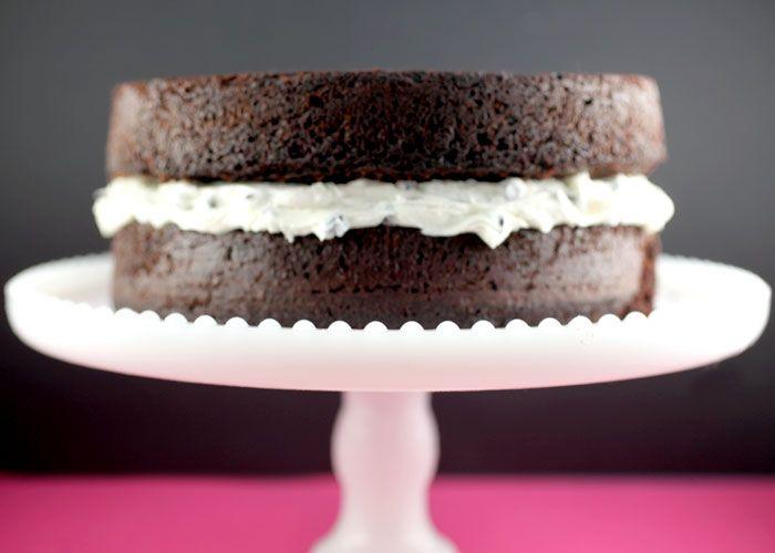 recette gâteau au chocolat avec glaçage à la vanille4 | layer cake
