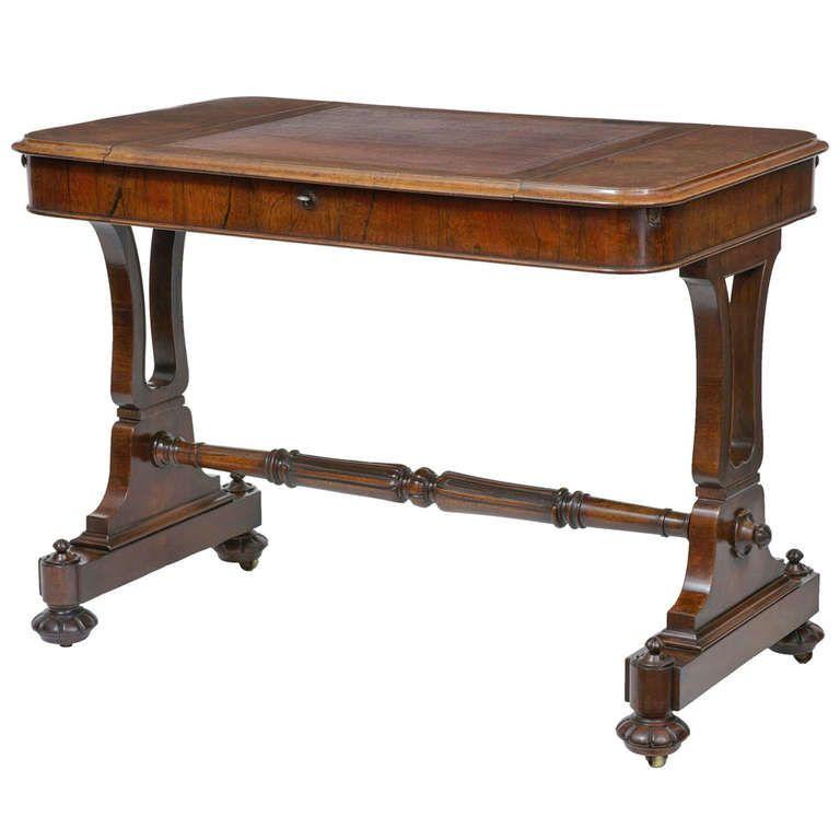 1stdibs.com | 19th Century Regency Rosewood Writing Table Desk
