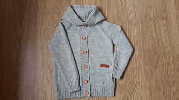 47736e4d4508 Wool with alpaca wool knitted gray cardigan for kid warm sweater ...