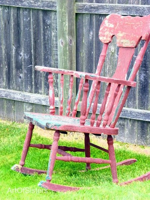 rocking chair csak bon pinterest chaises peintes mobilier exterieur et chaises. Black Bedroom Furniture Sets. Home Design Ideas