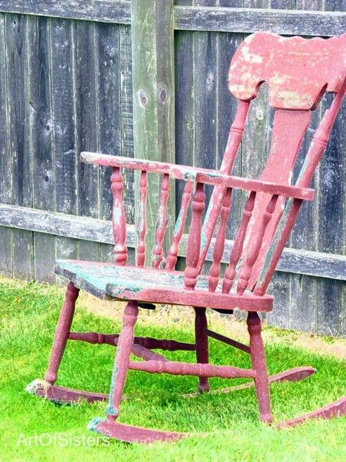 rocking chair csak bon pinterest chaises peintes. Black Bedroom Furniture Sets. Home Design Ideas