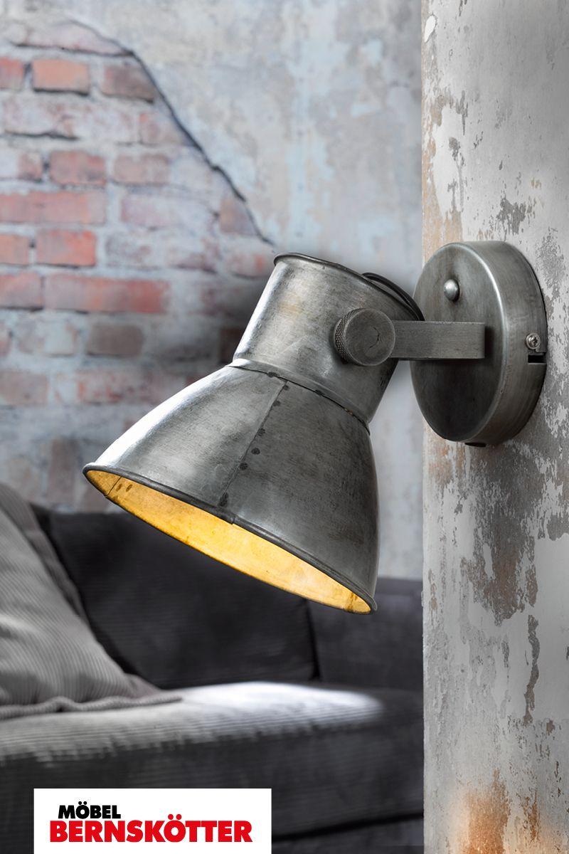 Wandleuchte Samia In Usedoptik Industrial Design Wandleuchte Lampen Und Leuchten Wand