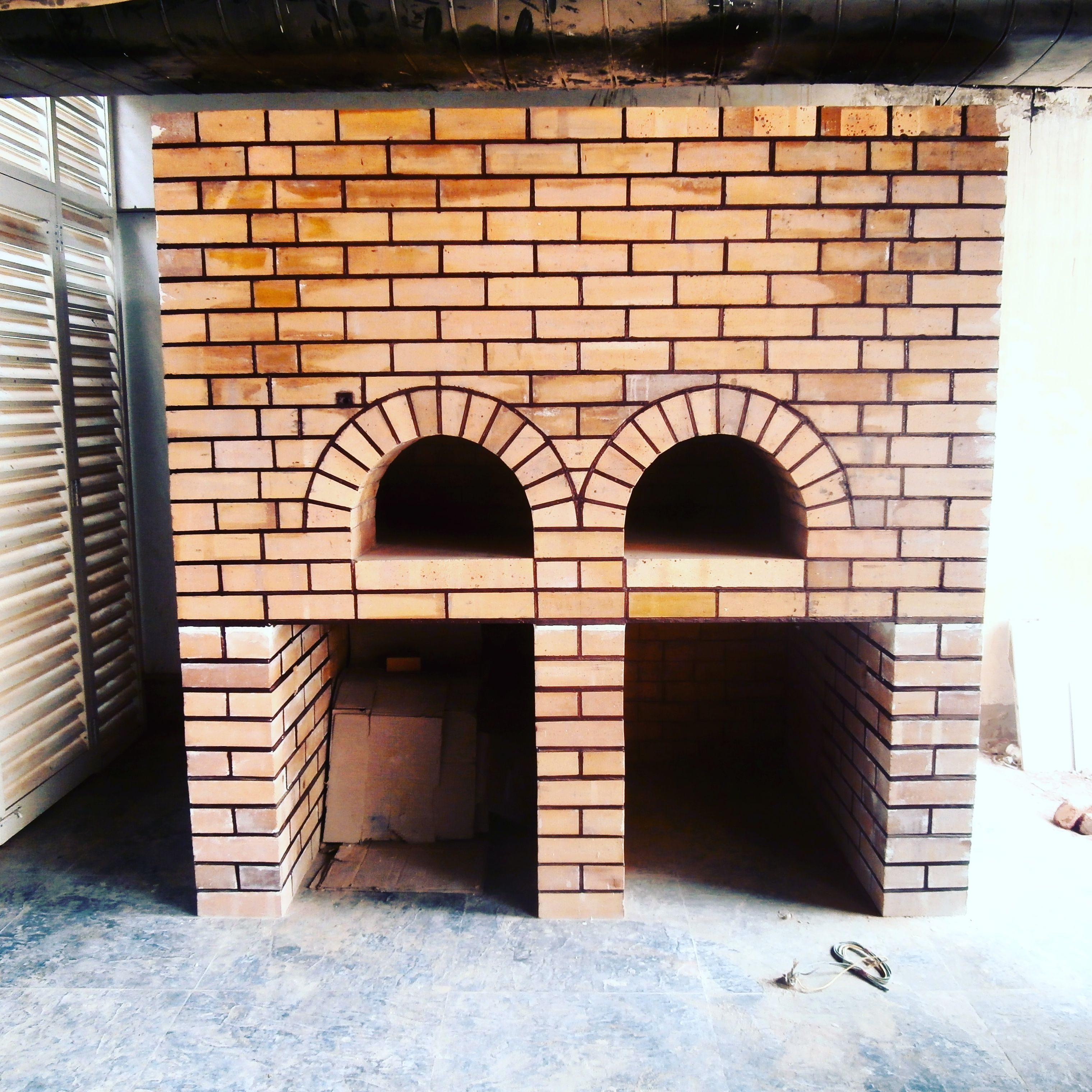 Double Door Brick Oven Constructed At The Upcoming Mirchi Restaurant Hyderbad By Legacy Brick Ovens Mumbai Ceramic Insulation Brick