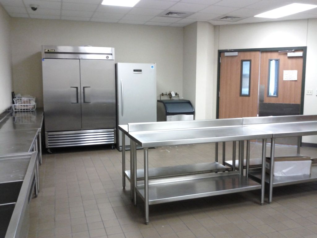 Catering kitchen in knox center includes double fridge