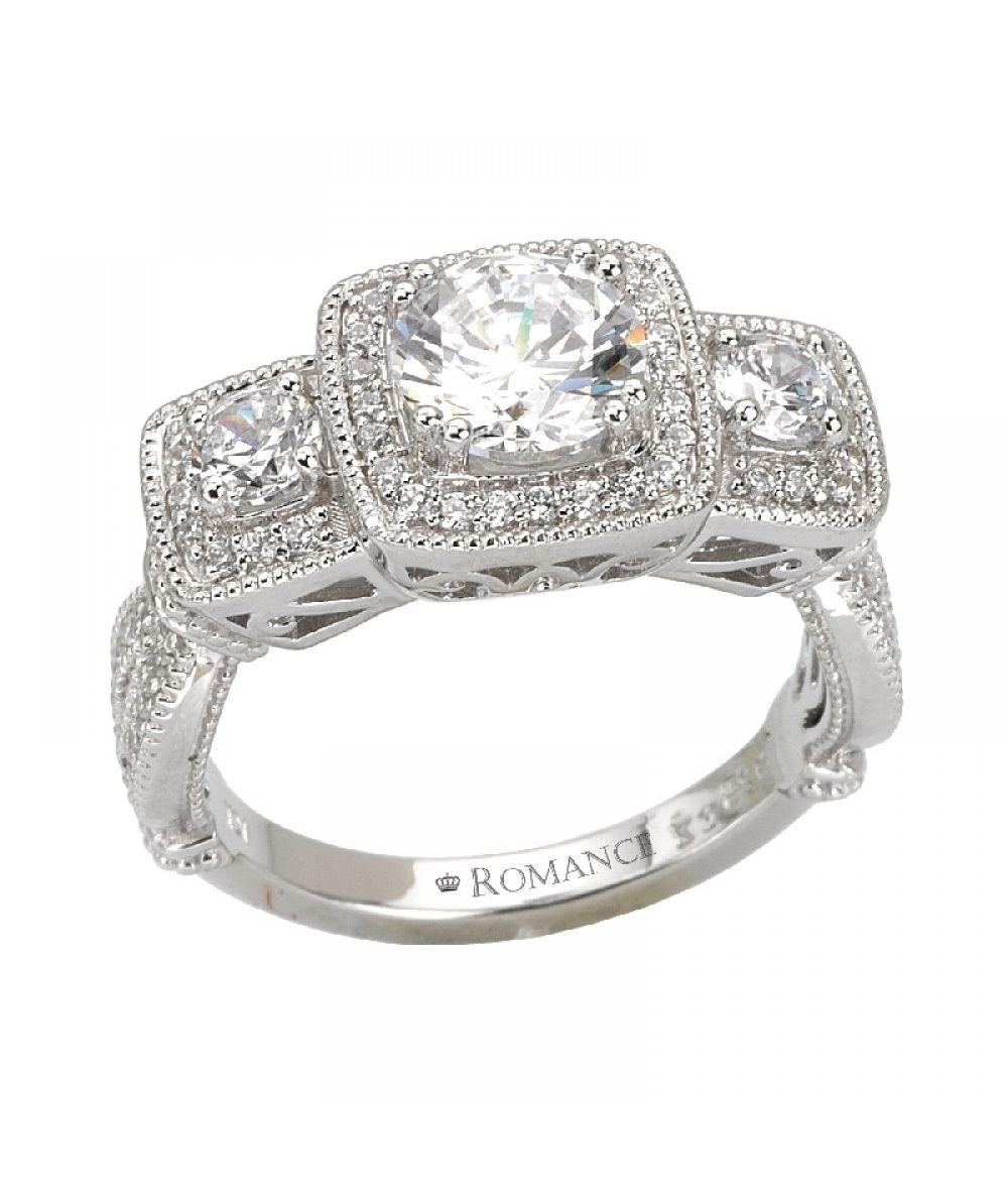 Engagement Rings Kansas City: 3-Stone Semi-Mount Diamond Ring