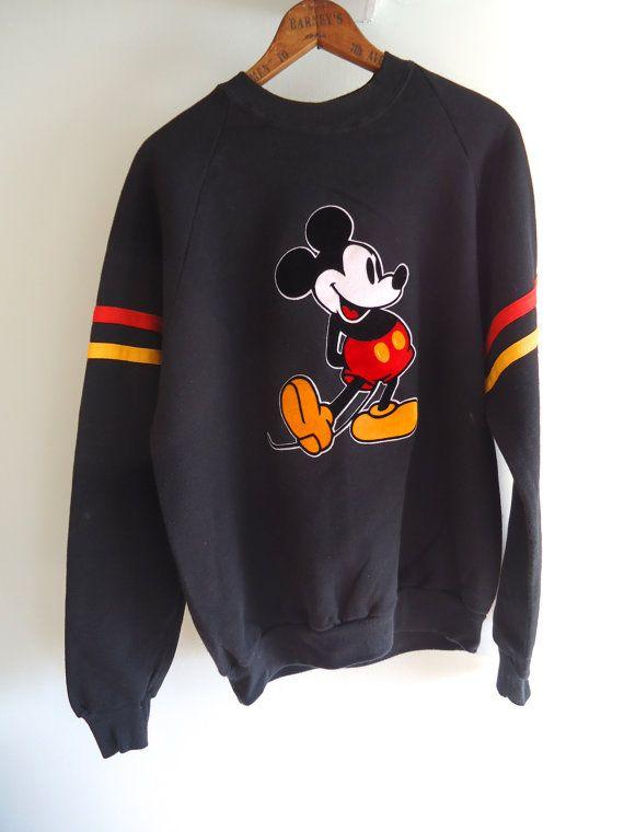 4730eeb9 Mickey Mouse Vintage Sweatshirt Disney 80s by GnarlyNutmeggers, $52.00