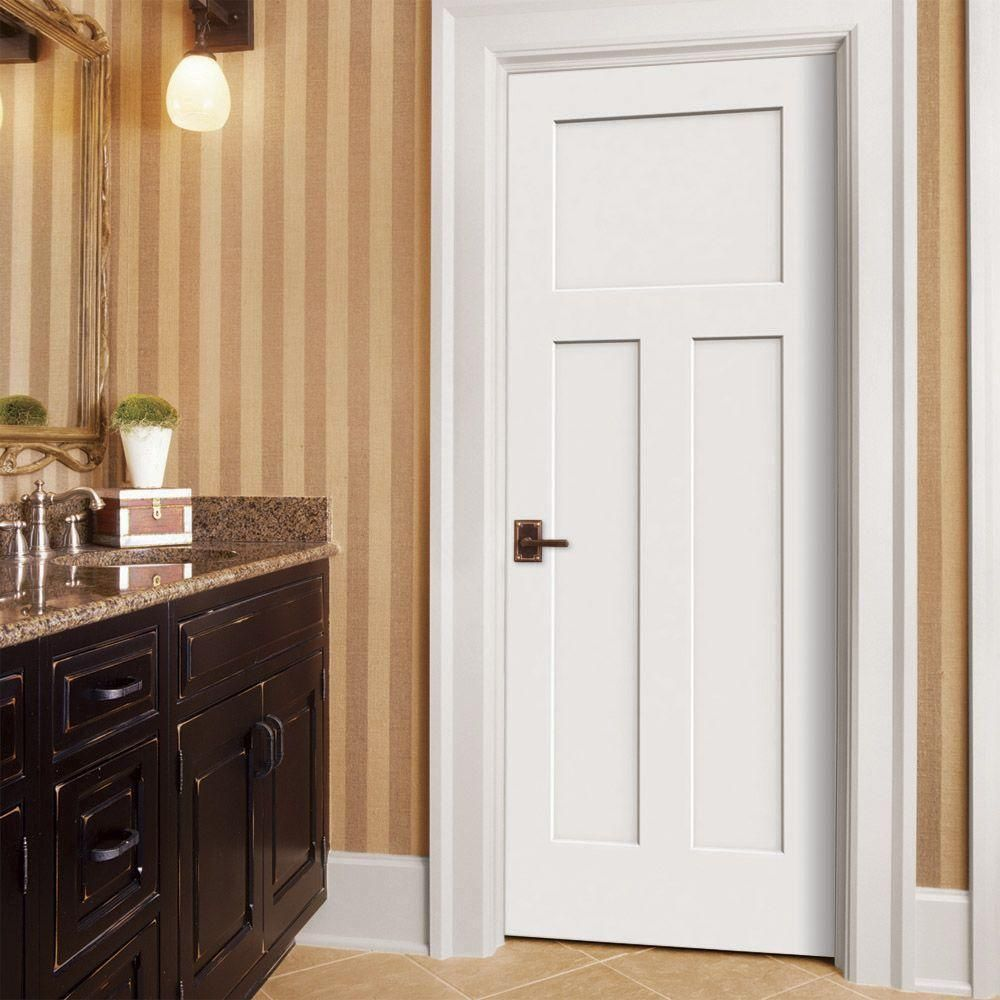 Jeld Wen 36 In X 80 In Craftsman Primed Right Hand Smooth Solid Core Molded Composite Mdf Single Prehung Interior Door Thdjw137100072 The Home Depot Prehung Interior Doors Craftsman Interior Doors Doors Interior