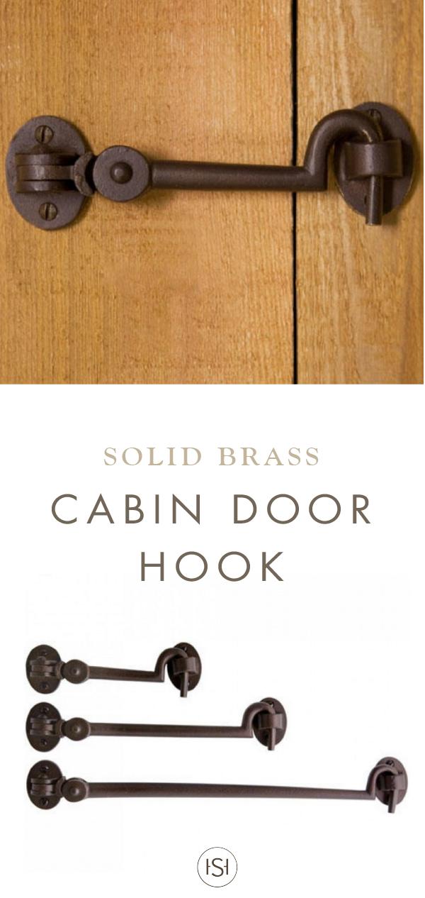Solid Bronze Cabin Door Hook Latch In 2019 Barn Door