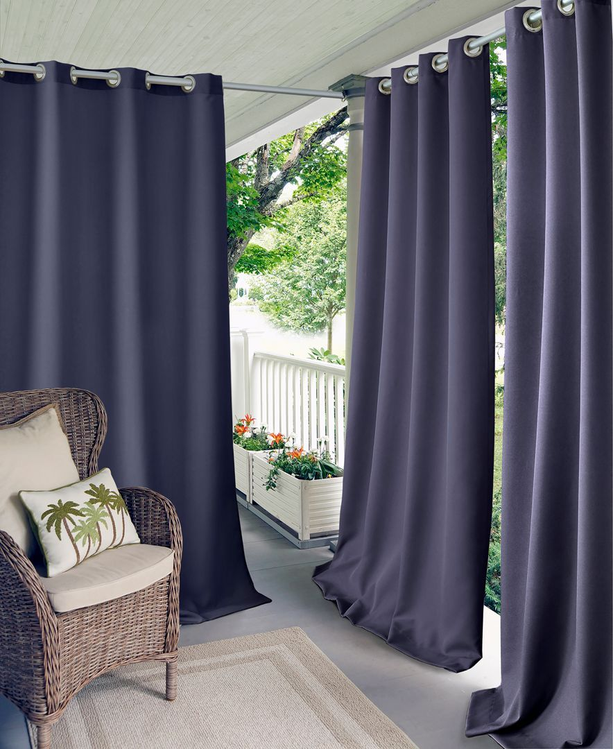 Elrene Connor 52 X 84 Indoor Outdoor Grommet Panel Water Repellent And 50 Uv Protection Reviews Window Treatments Blinds Macy S Outdoor Curtains Panel Curtains Curtains