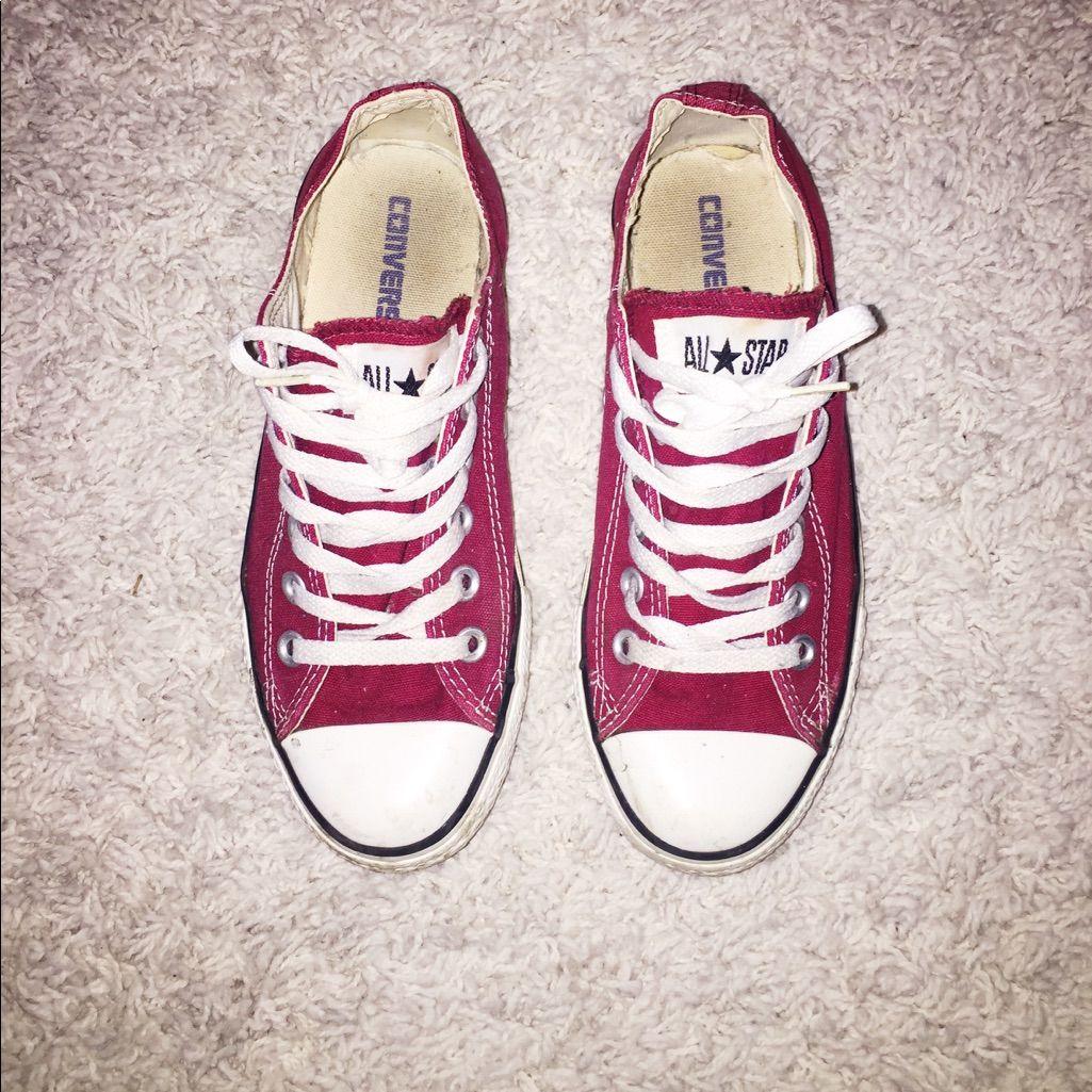 Garnet / Maroon Low-Top Converse | Converse