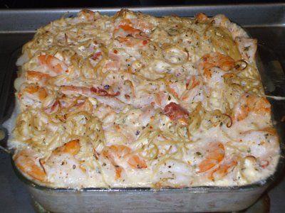 Angela's Recipes: Cheesy Shrimp Pasta