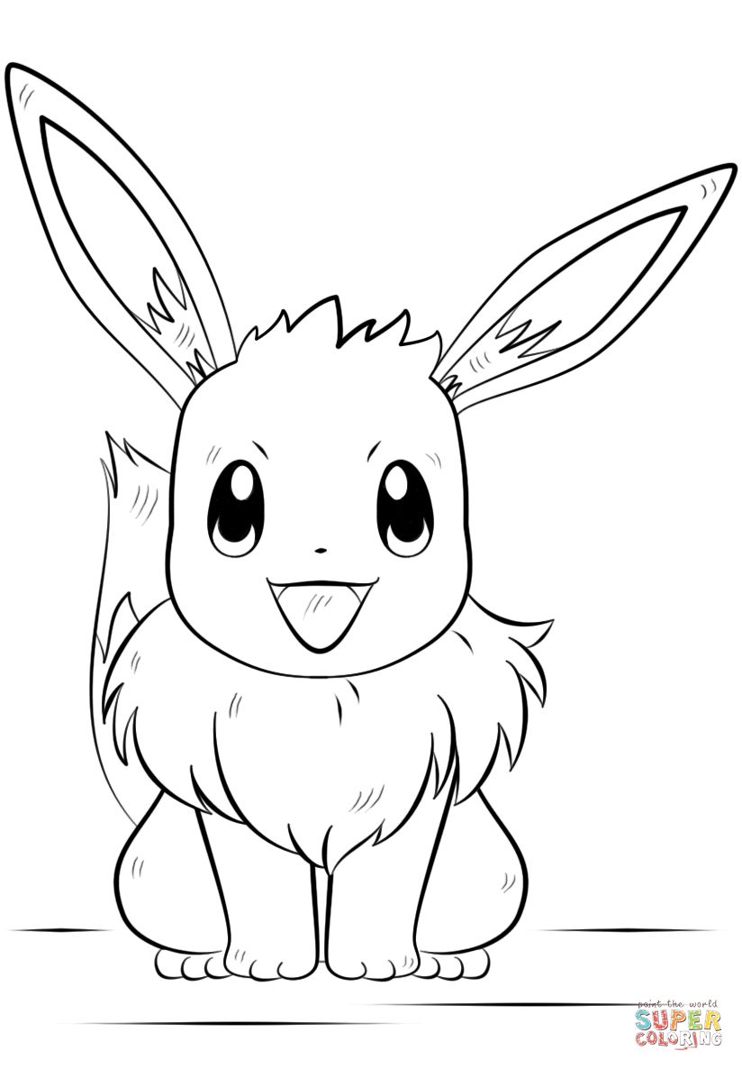 Pokemon Coloring Pages Eevee Eevee Pokemon Coloring Page Free