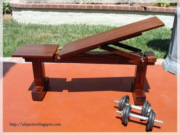 Homemade diy weightlifting benches flat and incline