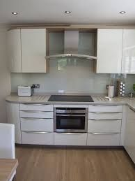 Image result for white kitchen with grey splashback