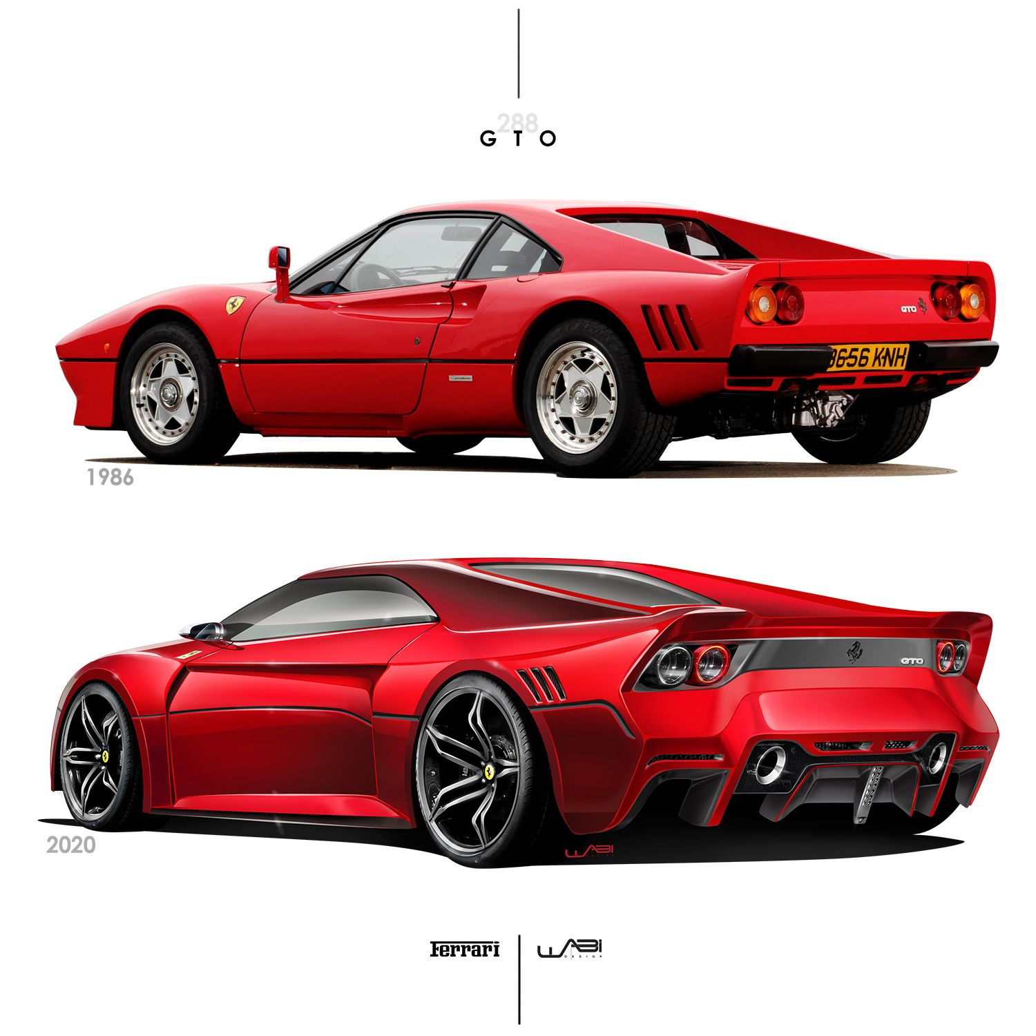 Ferrari 288 GTO Old Vs New
