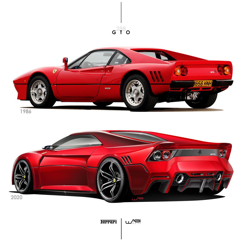 Ferrari 288 gto old vs new