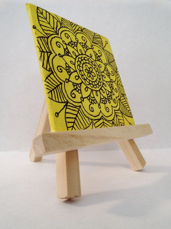Perfect for gifts Mini easel with mini canvas by ShelbmcintyreArt ...