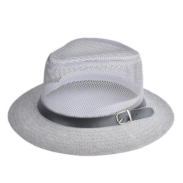 0f7e8a61b0e5 Women Spring Summer Hat Breathing Mesh Sun Cap Hollow Out Wide-Brim ...